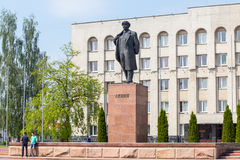 Lenin monument in front of the Executive Committee Stock Photography
