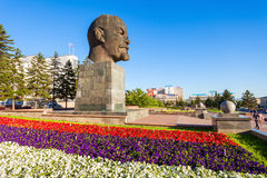 Lenin monument i Ulan-Ude royaltyfri fotografi