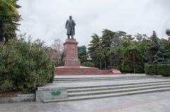 Lenin monument i Yalta Arkivfoto