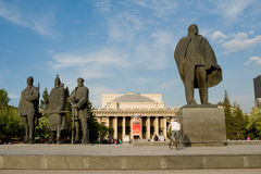 Lenin monument in Novosibirsk Royalty Free Stock Images