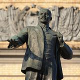 Lenin monument in Orel, Russia. Closeup Stock Photos