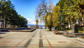 Lenin monument in Pyatigorsk Royalty Free Stock Images