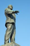 Lenin monument in the sky, Orel, Russia Royalty Free Stock Photography
