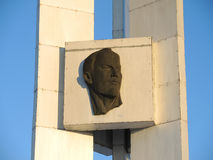 lenin monument till vladimir Arkivbild