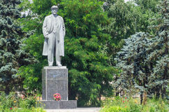 Lenin monument in the town of Skadovsk Royalty Free Stock Image