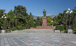 Lenin Monument In Yalta Stock Photos