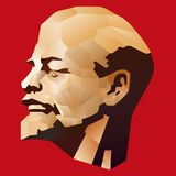 Lenin mosaic Stock Photo
