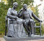 Lenin och Krupskaya. royaltyfri bild