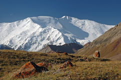 Lenin peak. From Base Camp 1 Stock Photography