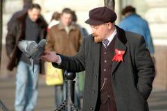 Lenin and pigeon Stock Photos