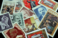 Lenin on postage stamps Stock Image