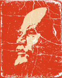 Lenin on poster Royalty Free Stock Photo