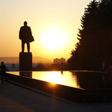 Lenin Quadrat. Lenin Denkmal und fontain von Rissen Stockfotografie