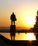 Lenin Quadrat. Lenin Denkmal und fontain von Rissen Lizenzfreies Stockbild