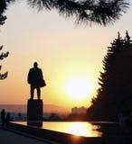 Lenin Quadrat. Lenin Denkmal und fontain von Rissen Stockbild