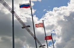 Lenin-Quadrat in Tula Stockfotografie