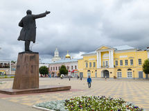 Lenin-Quadrat Yelets-Stadt Stockfoto