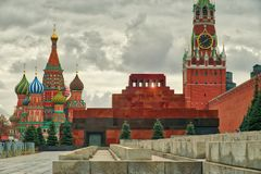 The lenin`s mauselium on Red Square Royalty Free Stock Image