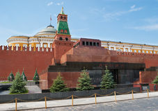 Lenin's Mausoleum. Moscow - June 28, 2013: Lenin's Mausoleum also known as Lenin's Tomb, situated on the Red Square, is the mausoleum that serves as the current Royalty Free Stock Photography