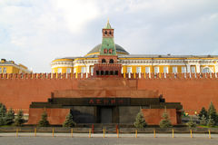 Lenin's mausoleum on the Red Square. Kremlin on the Red Square in Moscow Stock Photography