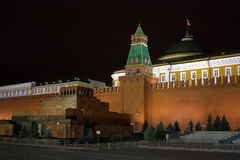 Lenin's Mausoleum in the Red Square. Of Moscow Stock Photography