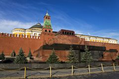 Lenin's Mausoleum on Red Square in Moscow Royalty Free Stock Photos