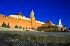 Lenin's mausoleum on the Red Square, Moscow, Russia Stock Photos