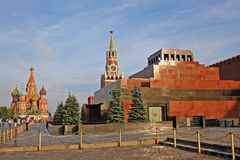 Lenin`s Mausoleum in Red Square in Moscow, Russia Stock Images