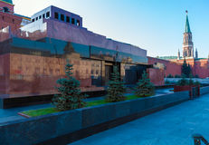 Lenin`s Mausoleum in Red Square, Moscow Royalty Free Stock Photography