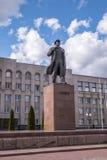 Lenin ` s statua w Hrodna Obrazy Stock