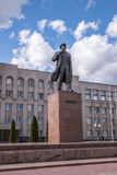 Lenin`s Statue in Hrodna. In Belarus stock images