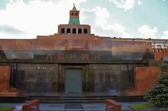 Lenin`s Thomb on the Red Square Moscow Russian Federation. Lenin`s Mausoleum on the Red Square in Moscow city Russian Federation stock image