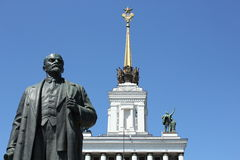 Lenin with Soviet star Stock Image