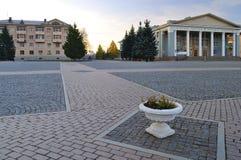 Lenin Square in Almetyevsk Tatarstan Russia Stock Image