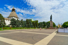 Lenin square in Astrakhan Royalty Free Stock Images