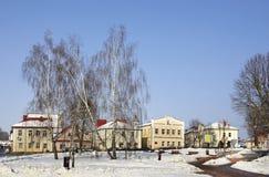 Lenin square in Slonim. Belarus Stock Photo