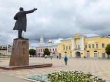 Lenin Square. Yelets city. Lenin Square. Located in the historic city of Yelets, Lipetsk region., Russia Stock Photo