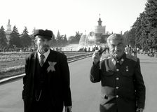 Lenin and Stalin Royalty Free Stock Photography