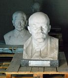 Lenin and Stalin Memento Park Budapest Hungary. Bust of Lenin and Stalin at Memento Park, or Szoborpark is an open-air museum in Budapest, Hungary, dedicated to royalty free stock images