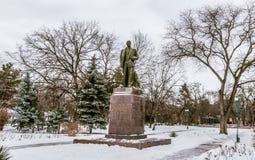 Lenin-Statue an einem Park im Bieger Transnistrien Lizenzfreies Stockfoto