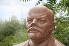 Lenin statue. Vladimir Ilyich Ulyanov better known by the alias Lenin was a Russian communist revolutionary, politician, and political theorist. He served as Royalty Free Stock Images