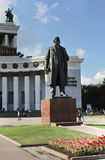Lenin statue on VVC, Moscow Stock Image