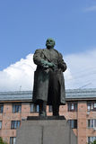 Lenin statue in Vyborg Stock Photo