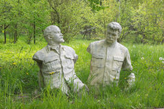 Lenin y Stalin foto de archivo libre de regalías
