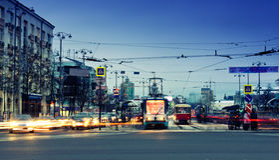 Lenina gata i av Yekaterinburg royaltyfria bilder