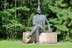Lenine no parque de Grutas perto da cidade de Druskininkai imagem de stock