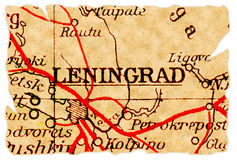 Leningrad old map Stock Photo