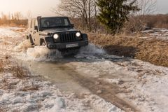 Jeep Wrangler off-road Royalty Free Stock Photography