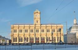 Leningradskiy railway station, Moscow Stock Images