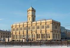 Leningradskiy railway station, Moscow Royalty Free Stock Photo